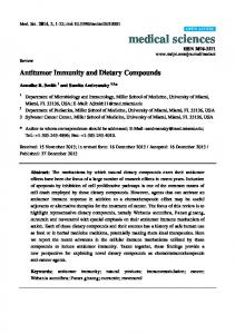 Antitumor Immunity and Dietary Compounds - MDPI