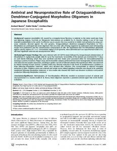 Antiviral and Neuroprotective Role of Octaguanidinium ... - CiteSeerX