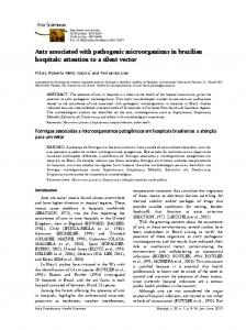 Ants associated with pathogenic microorganisms in brazilian hospitals ...