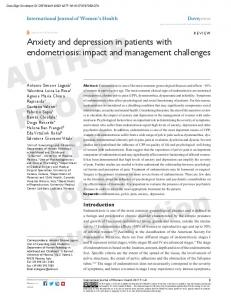 Anxiety and depression in patients with endometriosis