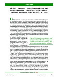Anxiety Disorders, Obsessive-Compulsive and Related Disorders ...