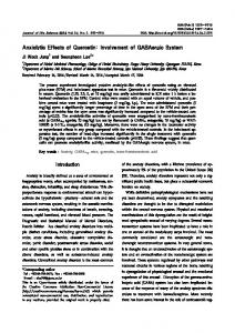 Anxiolytic Effects of Quercetin: Involvement of GABAergic ... - KPubS
