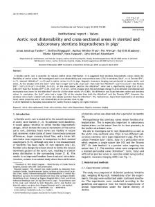 Aortic root distensibility and cross-sectional areas in ... - CiteSeerX