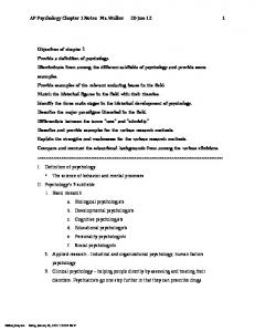 AP Chapter 1 outline