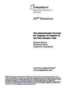 AP Statistics - AP Central - The College Board