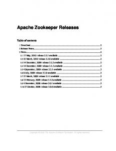 Apache Zookeeper Releases