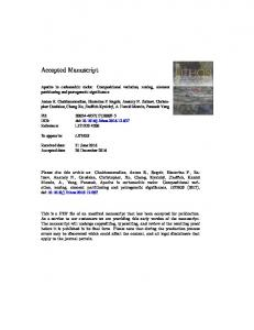 Apatite in carbonatitic rocks: Compositional variation, zoning, element