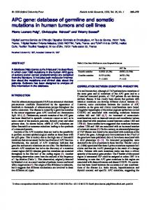 APC gene: database of germline and somatic ... - BioMedSearch