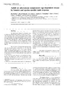 Aphid sex pheromone components - Springer Link