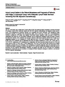 Apical Lymph Nodes in the Distant Metastases and ... - Springer Link