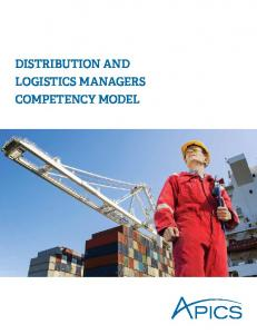 APICS Distribution and Logistics Managers Competency Model