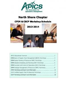 APICS North Shore Chapter