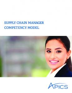 APICS Supply Chain Manager Competency Model