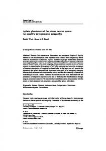 Aplasic phantoms and the mirror neuron system: An ...