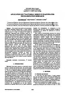aplication of 2 factorial design in wastewater decolorization research