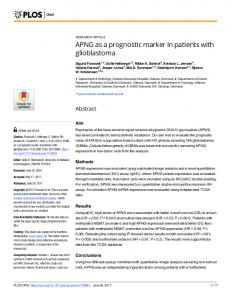 APNG as a prognostic marker in patients with ... - Semantic Scholar