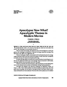 Apocalypse Now What? Apocalyptic Themes in ... - Word & World