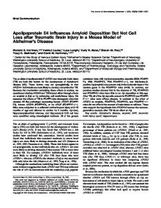 Apolipoprotein E4 Influences Amyloid Deposition But Not Cell Loss ...