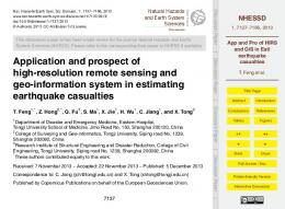 App and Pro of HIRS and GIS in Esti earthquake casualties - nhessd