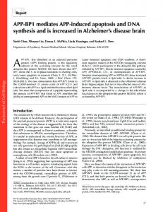APP-BP1 mediates APP-induced apoptosis and DNA ... - BioMedSearch