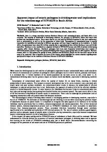 Apparent impact of enteric pathogens in drinking water and ...