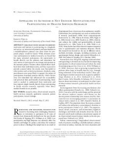 Appealing to Altruism is Not Enough: Motivators for ... - SAGE Journals