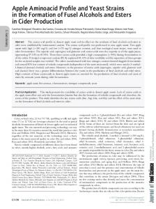 Apple Aminoacid Profile and Yeast Strains in ... - Wiley Online Library