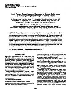 Apple Pomace Extract Improves Endurance in Exercise Performance ...
