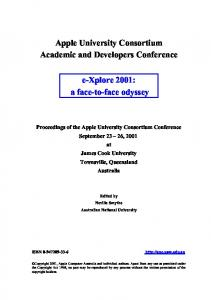 Apple University Consortium Academic and Developers Conference ...