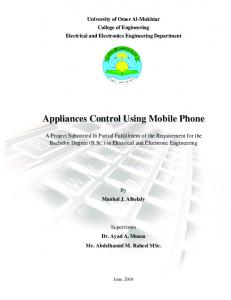Appliances Control Using Mobile Phone