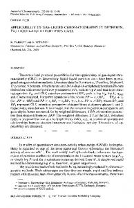 APPLICABILITY OF GAS-LIQUID CHROMATOGRAPHY IN