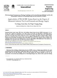 Applicability of TES-BCHP System Based on the ... - Science Direct