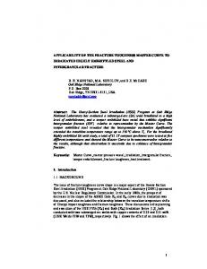 applicability of the fracture toughness master curve to ... - CiteSeerX