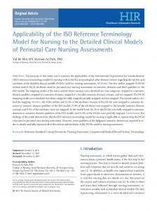 Applicability of the ISO Reference Terminology Model for Nursing to ...