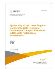 Applicability of the Linear Sorption Isotherm Model