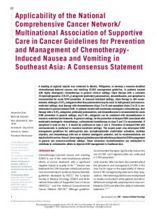 Applicability of the National Comprehensive Cancer Network ...