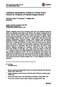 Application and Sensitivity Analysis of Artificial Neural ... - Springer Link