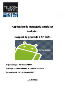 Application de messagerie simple sur Android : Rapport de projet de ...