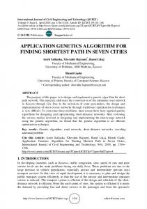 application genetics algorithm for finding shortest path