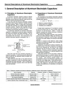 Application Guidelines for Aluminum Electrolytic Capacitors - Nichicon
