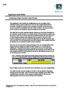 Application Note #5485 - Galil