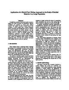 Application of a Hybrid Text Mining Approach to the ...
