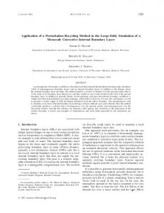 Application of a Perturbation Recycling Method in the ... - CiteSeerX