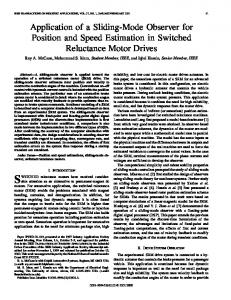 Application of a sliding-mode observer for position and speed ...