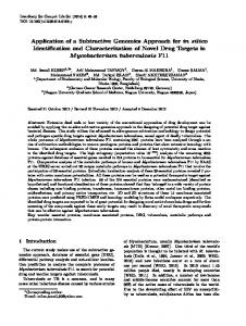 Application of a subtractive genomics approach forin ... - Springer Link
