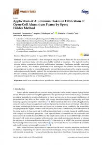 Application of Aluminium Flakes in Fabrication of Open-Cell ... - MDPI