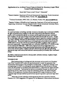 Application of an Artificial Neural Network Model for Boundary Layer ...