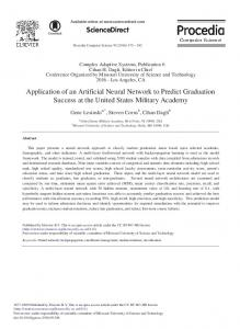 Application of an Artificial Neural Network to Predict ... - ScienceDirect