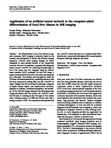 Application of an artificial neural network to the computer-aided ...