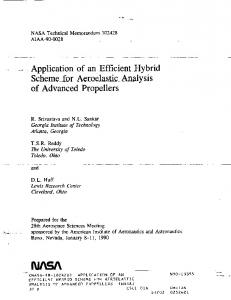 Application of an Efficient Hybrid Scheme for Aeroelastic Analysis of ...